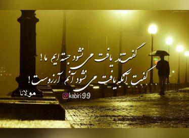 بنمای رخ که باغ و گلستانم آرزوست – مولانا